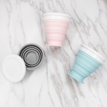 Folding Cup Cover Coffee-Cup Retractable Collapsible Silicone Camping-Cup 200ML Travel