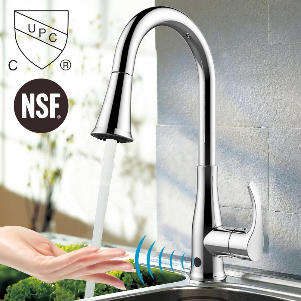 US $212.49 |Atalawa Touchless Motion Sensor Kitchen Sink Faucet with Pull  Down Dual Mode Sprayer Head and 360 Rotating High Arc AWSF001 CH-in Kitchen  ...