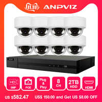 Hikvision 8CH 4K NVR 4/6/8 stücke 5MP POE IP Security Kamera System Audio Record IP kamera Outdoor CCTV Video Überwachung NVR KIT