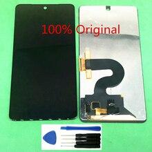 Nova substituição completa lcd assembléia digitador da tela de toque para o telefone essencial ph 1