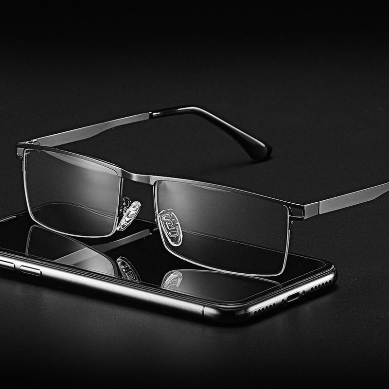 Optical Eyeglasses Frame Full Rim Metal Alloy Glasses Frame With Medical Prescription Eyewear Spectacle 5012