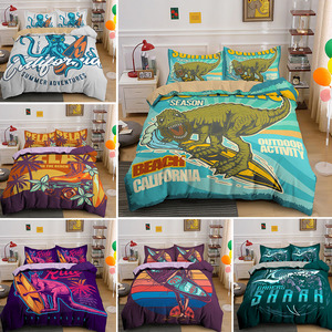 3D Kangaroo Dinosaur Surfing Printing Duvet Cover Sets Bedding Set Single Double Queen King 2/3PCS With Pillowcase Drop Shipping