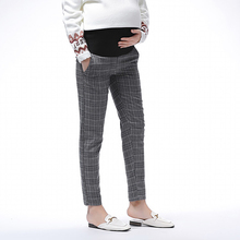 Autumn & Winter Adjustable Pregnant Pant High Waist Elastic Force for Women Trousers Lattice Pregnancy Pants