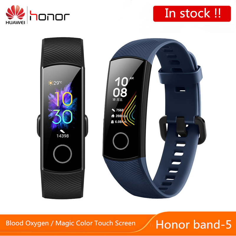 Huawei Honor Band 5 Smart Bracelet band 4 0.95inch Tracker Smart OLED Swimming Waterproof Bluetooth Fitness Tracker Touch Screen image