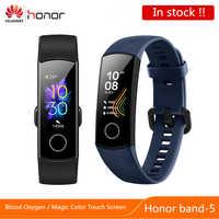 Huawei Honor Band 5 banda inteligente pulsera 4 0,95 pulgadas rastreador inteligente OLED natación impermeable Bluetooth Fitness Tracker pantalla táctil