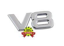 Chrome v8 v 8 para patrulha s55 e500 w203 placa de identificação traseira emblema adesivo