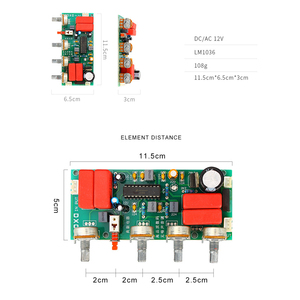 Image 3 - LM1036 Preamp  Amplifier Audio Tone Board Treble Bass Volume Control Adjustment Board DC/AC 12V B1 004
