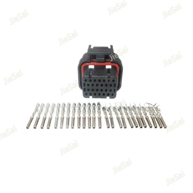 Connecteur dordinateur 3-1437290-8 automobile   26 broches, 1mm, prise électrique scellée