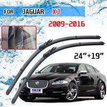 Jaguar XJ X351 2009, 2010, 2011, 2012, 2013, 2014, 2015, 2016 para parabrisas delantero de coche limpiaparabrisas cepillos