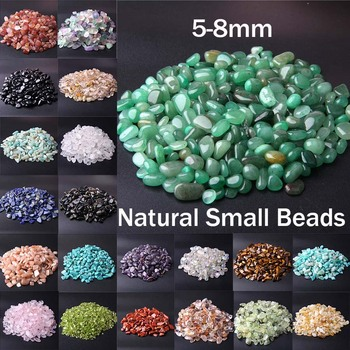 Natural Stone Beads Colorful 5-8MM 20 50 100G Mixed Gravel Chip Irregular Energy Gem For Fish Tank Bonsai Decoration