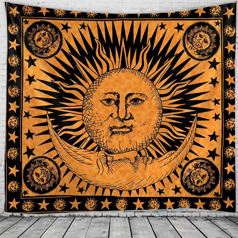 Słońce gobelin Indian Mandala Hippie makrama gobelin ścienny do powieszenia w stylu Boho decor psychodeliczny czarodziejski gobelin
