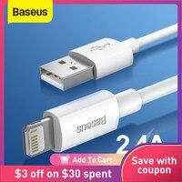 Baseus Cable USB para iPhone 7 6 6 cargador USB-C Cable QC 3,0 rápido de carga tipo-C Cable para Samsung S10 S9 alambre para Huawei Xiaomi