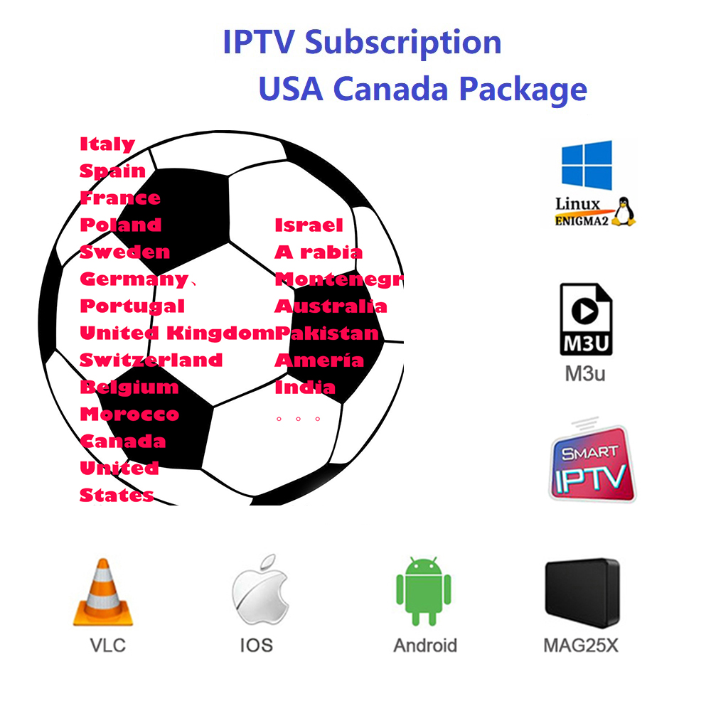 IPTV German French Turkish UK Poland Romania Hungary Czech Spain Nordic HD IPTV Support Android M3U Smart TV Series VOD