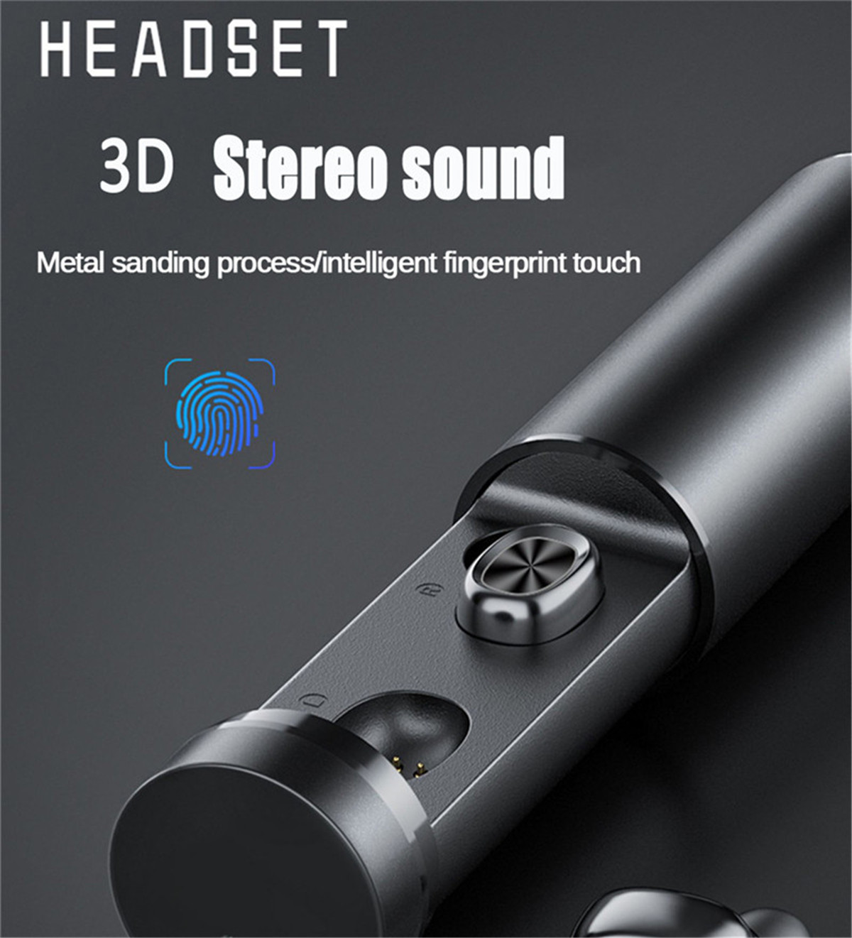 2020 Brand New Bluetooth Wireless Headsets Sports Earphone with Protable Charging Box Waterproof HIFI Sound Earbuds