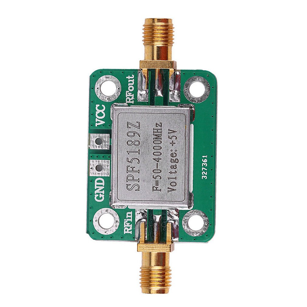 LNA 50-4000mhz RF Low Noise Amplifier Signal Receiver Module Shield Board for Arduino SPF5189 NF = 0.6db Inm ONLENY