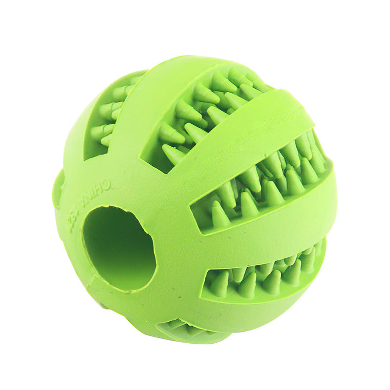 Pet Chewing Toys Interactive Plastic Molar Bite Funny Tooth Clean Ball for Puppy Medium and Large