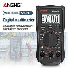 ANENG DM830L Tester Meter misuratore di capacità retroilluminazione LCD multimetro digitale 1999 conta condensatore a Transistor