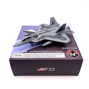 Image 3 - Modèle davion en métal moulé à léchelle 1/100, jouets USA F 22 F22, chasseur Raptor, jouet pour enfants, Collection cadeau, livraison gratuite