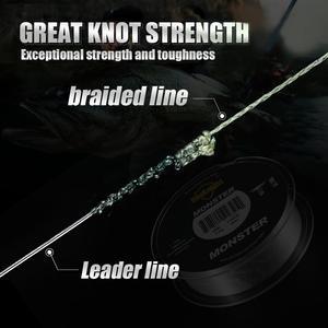Image 4 - Seaknight marca ms w8 série 8 fios 500m ultra fundição trança linha de pesca suave super linha multifilamento pe linha 15 100lbs