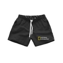 National geographic beach shorts men / women quick drying for running summer men shorts brand male training sports short pants m
