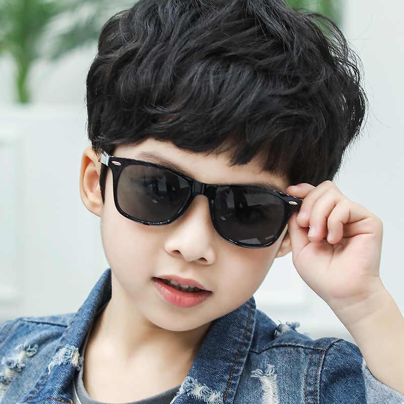 เด็กน่ารักสแควร์ Revit กรอบแว่นตากันแดดเด็กเด็กสีชมพูสีฟ้าเลนส์กระจกเงินแฟชั่นชายหญิง UV400 แว่นตา