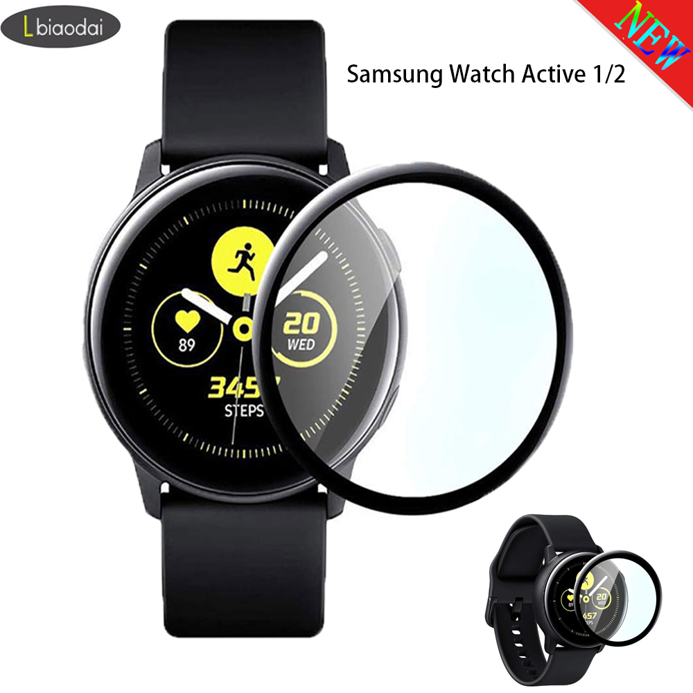 Glass For Gear S3 Frontier/S2/Sport Samsung Galaxy Watch Active 2 44mm 40mm/46mm/42mm 3D HD Full Screen Protector Film Active2
