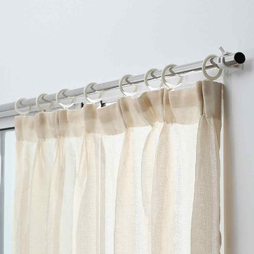2pcs self adhesive hooks wall mounted curtain rod bracket shower curtain rod fixed clip hanging rack 30fp29