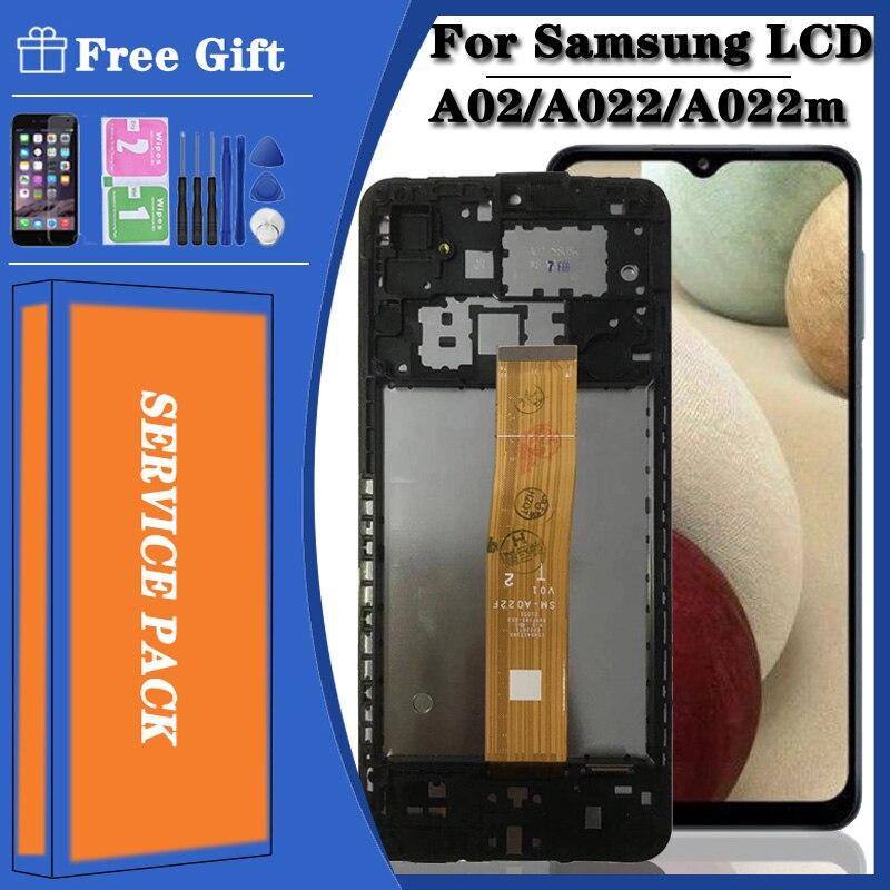 Оригинальный Для Samsung Galaxy A02 SM-A022 A022m, ЖК-дисплей, сенсорный экран, дигитайзер, полный комплект SM-A022FN/DS SM-A022F/DS SM-A022G/DS IPS