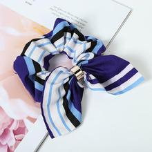 CN Hair Accessories Women Flower Scrunchie Ponytail Holder Gum For Ties Girls Knot Headband