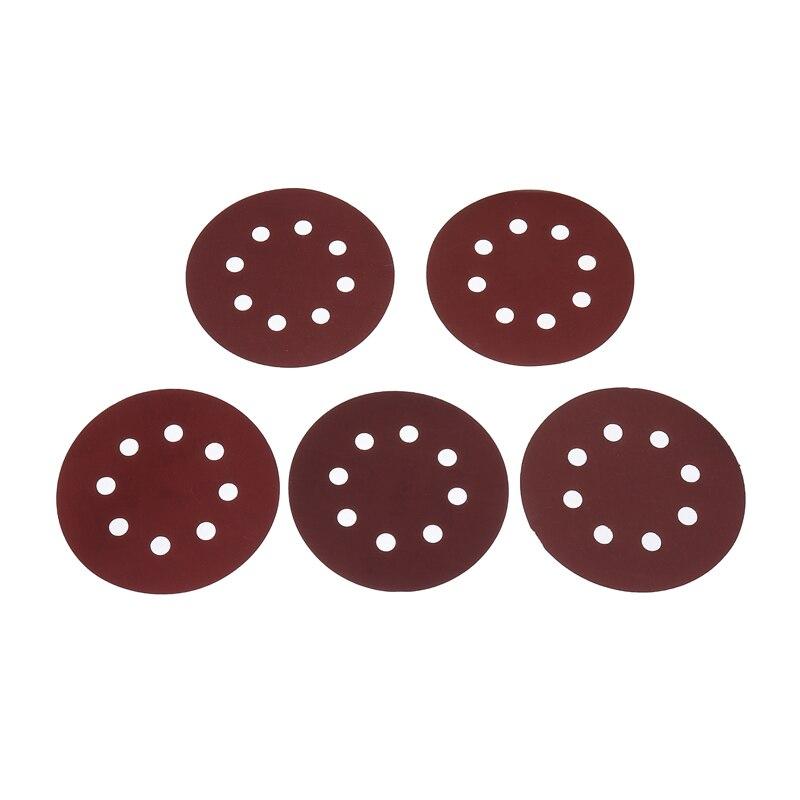 30Pcs 125mm Sanding Disc 8Holes Sander Sandpaper Disc Pad Hook Loop Grinding Buffing Abrasive Tool 800/1000/1200/1500/2000 Grit