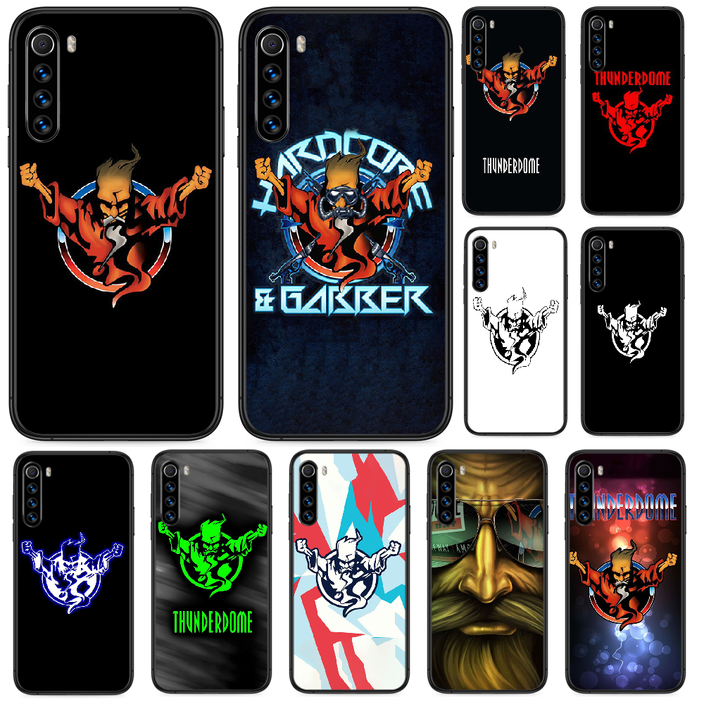 Thunderdome Hardcore Wizard Phone case For <font><b>Xiaomi</b></font> <font><b>Redmi</b></font> Note 4A <font><b>4X</b></font> 5 6 6A 7 7A 8 8A 4 5 5A 8T Plus Pro black bumper <font><b>3D</b></font> cover art image