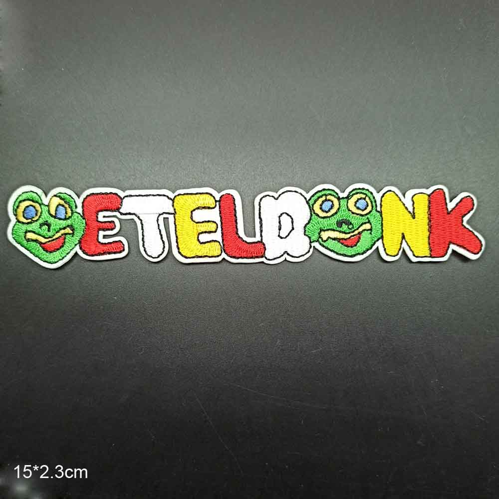 Oeteldonk Patches Stickers Embroidered Clothes Iron-On Frog Carnival for Clothing Garment title=