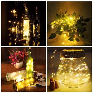 Image 5 - Wein Flasche Lichter Kupfer Draht Fee String Licht Warm Weiß Flasche Stopper Atmosphäre Lampe für Weihnachten Baum Hochzeit Party