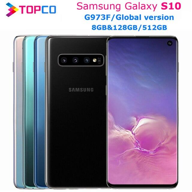 "Samsung Galaxy S10 G973F 8GB&128GB/512GB Global Version Unlocked Mobile Phone Exynos 9820 Octa Core 6.1"" 16MP&Dual 12MP NFC 1"