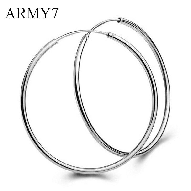 1 คู่ Hyperbole ต่างหูวงกลมขนาดใหญ่ Smooth Big Ears แหวนล้างวงกลมรอบต่างหู Hoop Charm Punk ออกแบบบุคลิกภาพเครื่องประดับ