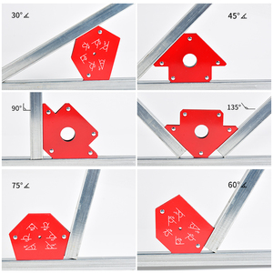Soldering Locator Strong Magnetic 25lb 50lb 75lb Welding Magnets Holder 3 Angle Arrow Welder Positioner Welding Tool Accessories