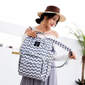Image 3 - Mummy bag USB Diaper Bag Baby Care Large Capacity Mom Backpack Mummy Maternity Wet Bag Waterproof Baby Pregnant Bag