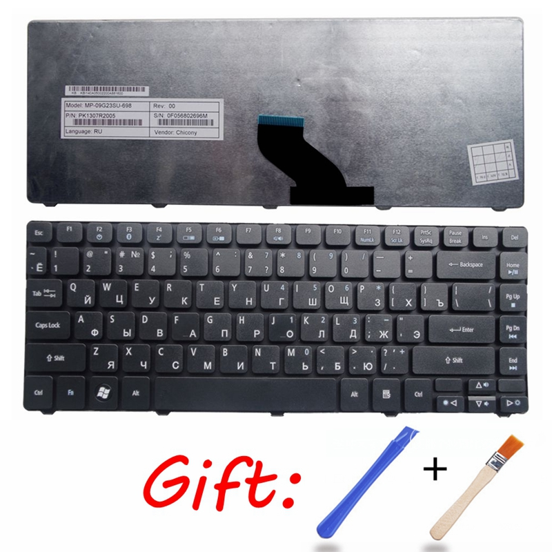 RU Black New Laptop Keyboard FOR <font><b>ACER</b></font> <font><b>4736</b></font> 4736zG 4736G 4738ZG 4746 4739Z 3820TG 3810TG 3810T <font><b>ACER</b></font> 4750G 3810 4743G 5942 5942G image
