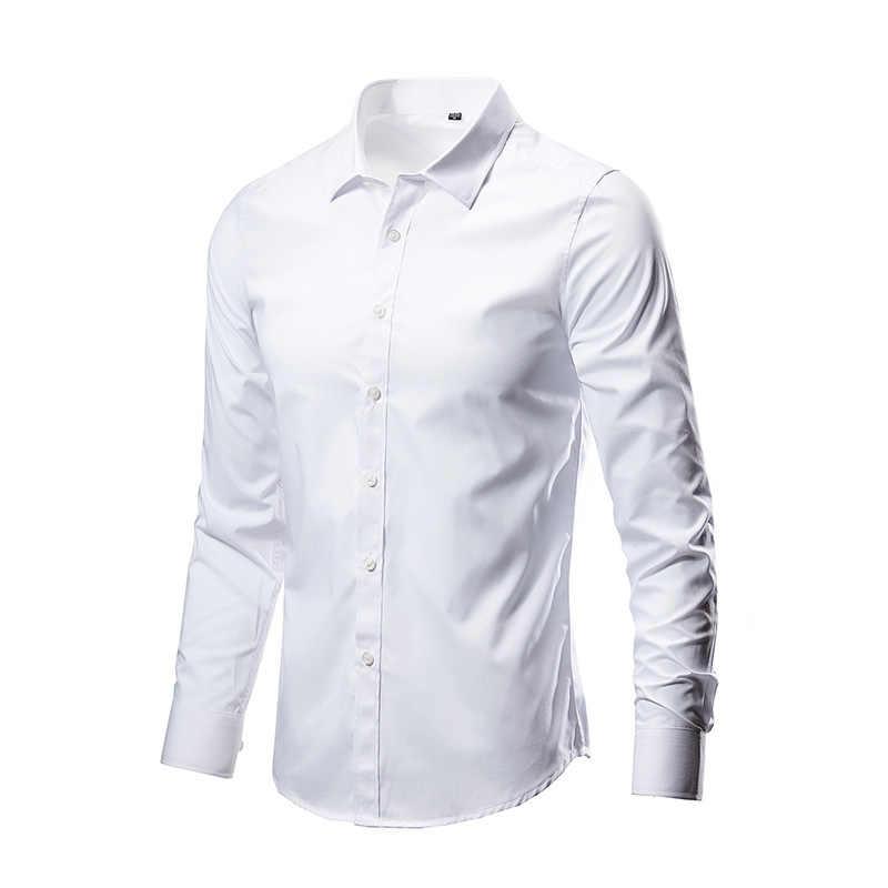 2020 Mới Thời Trang Nam Cổ Áo Sơ Mi Mỏng Chắc Chắn Công Sở Áo Sơ Mi Mùa Xuân, Mùa Thu Chắc Chắn Camisas Nam
