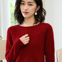100% Cashmere Knitted Sweater Women Pullovers 5colors O Neck New Fashion Ladies Jumpers Standard Clothes