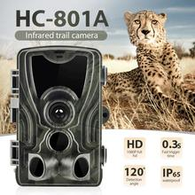 HC-801A Newest Hunting Camera 16MP Trail Camera IP65 Photo Traps 0.3s Trigger Time 940nm Wild Camera 1080P waterproof Camera 16mp deer trail camera wild hunting wide angle hunting trail camera hc 550m with 0 5s trigger time 48 black ir night vision