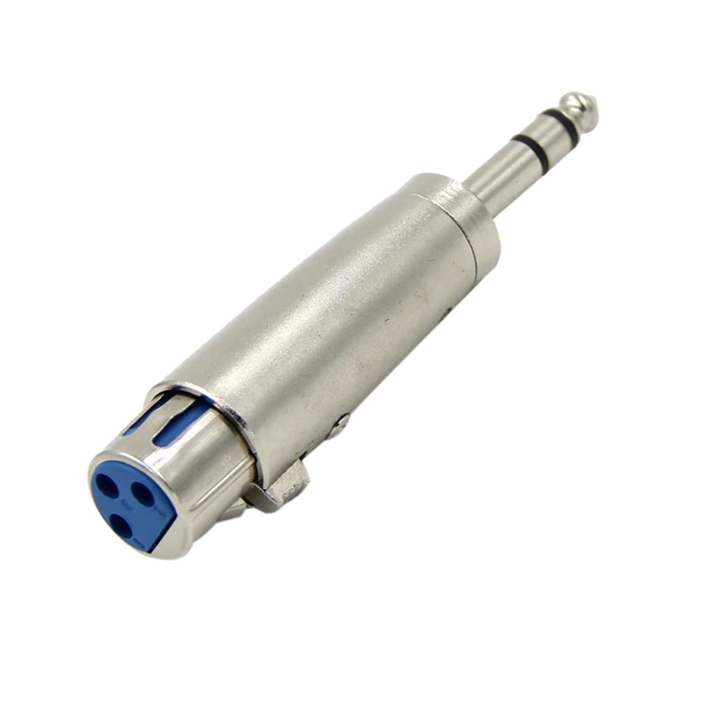 Metal XLR 3 Pin Female To 6.35mm Male Stereo Plug Adaptor Converter