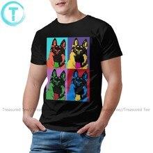 Szczenięta owczarek niemiecki T Shirt Kolorful Kriss koszulka śliczna męska koszulka bawełniana z krótkim rękawem modna koszulka