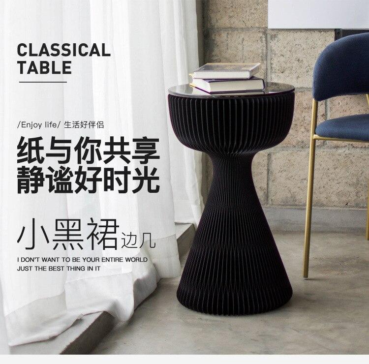 Creative Home 18 Paper 2019 New Hepburn Little Black Dress Tea Table Glass Surface Design Foreign Sales
