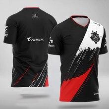 G2 gaming t-shirts jogo lol csgo equipe superior jogadores profissionais homem e mulher moda rua camisetas de alta qualidade id jerseys