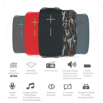 HOPESTAR-P20 Bluetooth speakers TWS outdoor waterproof soundbar subwoofer portable audio 2400mAh battery With mobile power radio - discount item  31% OFF Portable Audio & Video