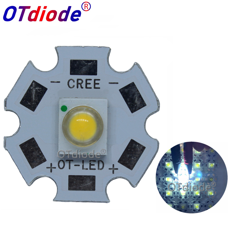 10pcs 3W SemiLedS High Power LED Chip Light Diode Emitter White 6000-6500K Warm White 3000-3200K Yellow With 20MM/16MMPCB