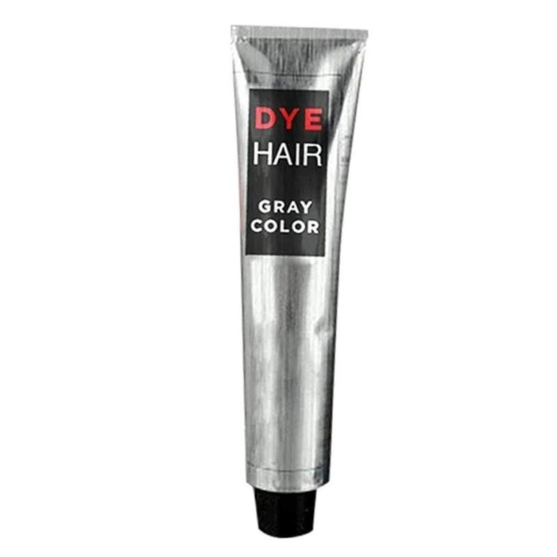 Unissex cinza cabelo tintura creme 100ml permanente cor penteado prata cobertura