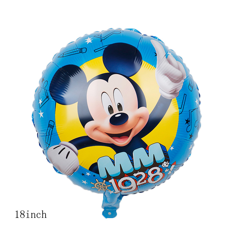 112cm Giant Mickey Minnie Mouse Cartoon Foil Balloon For Birthday Party 10