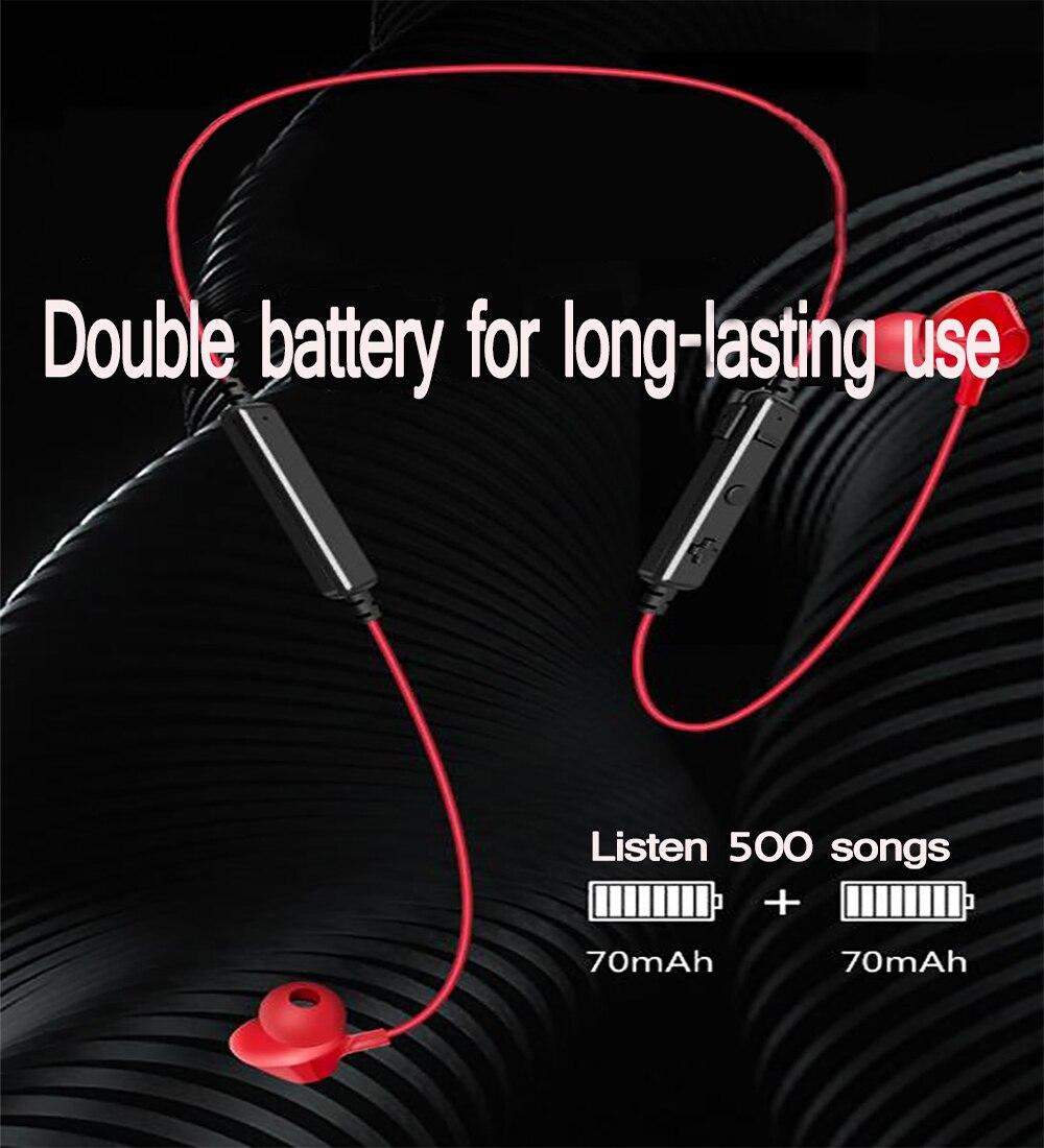 ouvido bluetooth sem fio magnético auriculares fones